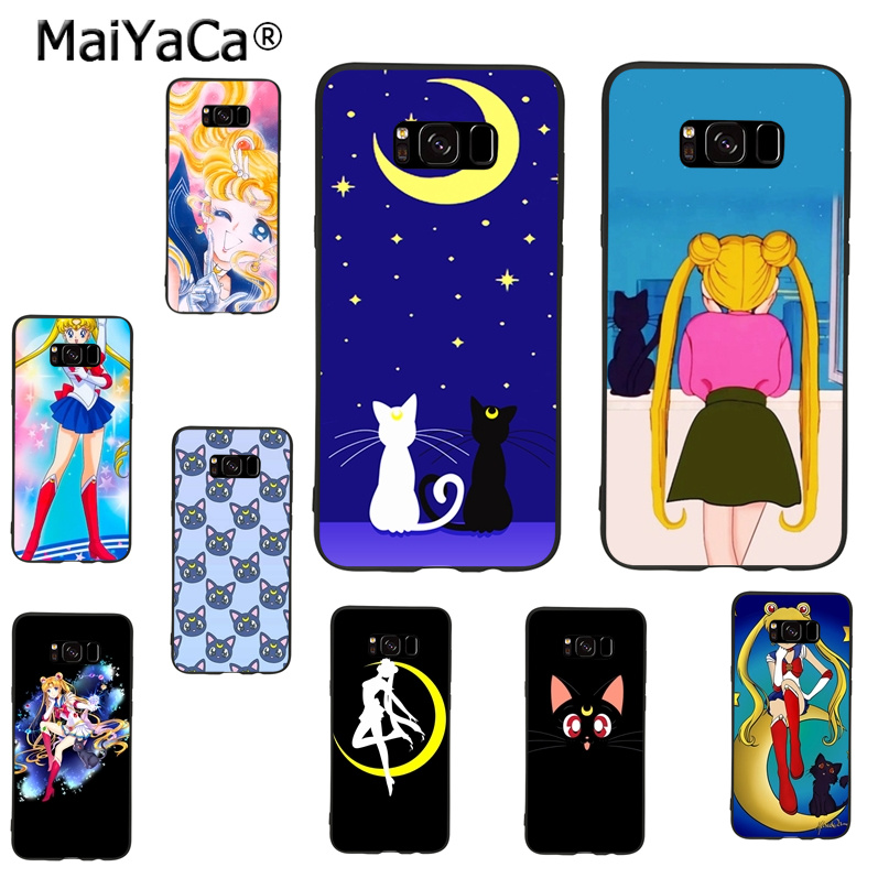 Maiyaca Sailor Moon Luna Ca Novelty Fundas Phone Case Cover For Samsung Galaxy S9 Plus Note 4 Note5 Note8 S7 S6 S8 Plus Case To Ensure A Like-New Appearance Indefinably Half-wrapped Case