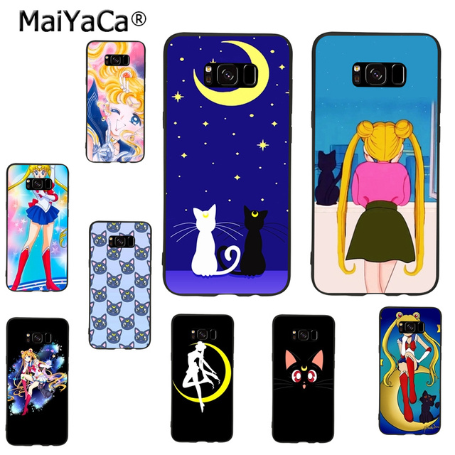 the latest 0569a 26ac5 US $1.1 15% OFF|MaiYaCa Sailor Moon Luna Ca Novelty Fundas Phone Case Cover  for samsung galaxy s9 plus note 4 note5 note8 s7 s6 s8 plus case-in ...