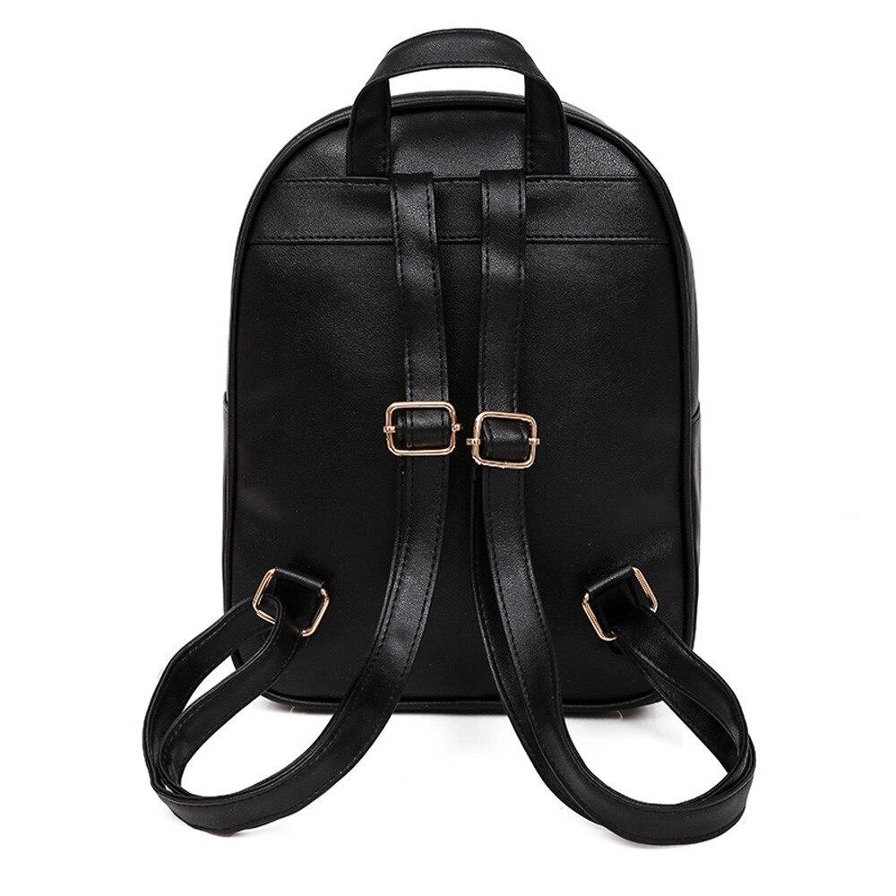 HTB1DF9GLHPpK1RjSZFFq6y5PpXaC OCARDIAN Woman packet Fashion Causal Bags Bead Female Shoulder Bag Backpacks Women Rivet Backpack dropship 19M12