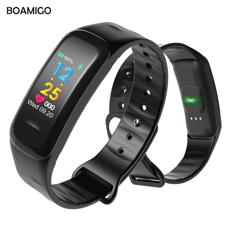 BOAMIGO Brand Smart Watch Fashion Smart Wristband Color Screen Call Message Reminder Pedometer Calorie Bluetooth For IOS Android new arrival m26 smart watch bluetooth v4 2 music player pedometer message call reminder anti lost wrist watch for iphone android