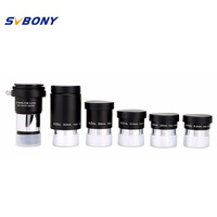 SVBONY 1.25 Plossl Eyepiece Kit 6.3mm 10mm 12.5mm 20mm 32mm Multi Coated+2 x Barlow Lens Astronomy Telescope Accessory W2193