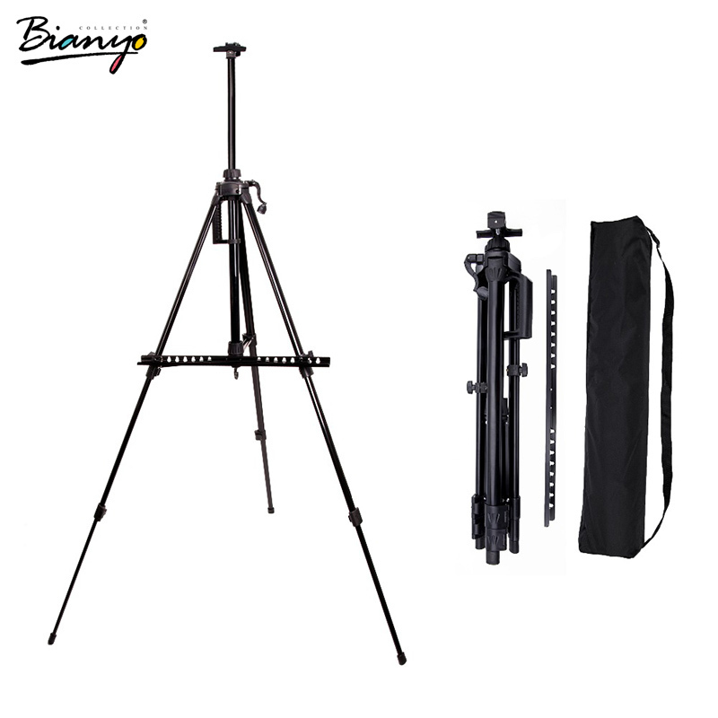 Bianyo Sketch Easel Aluminum Alloy Adjustable Metail Easel Drawing Set Stand Hand Telescopic Sketch Easels For Artist Painting abwe best sale fantastic wooden easel magnetic doodle drawing board drawing blackboard toy for children