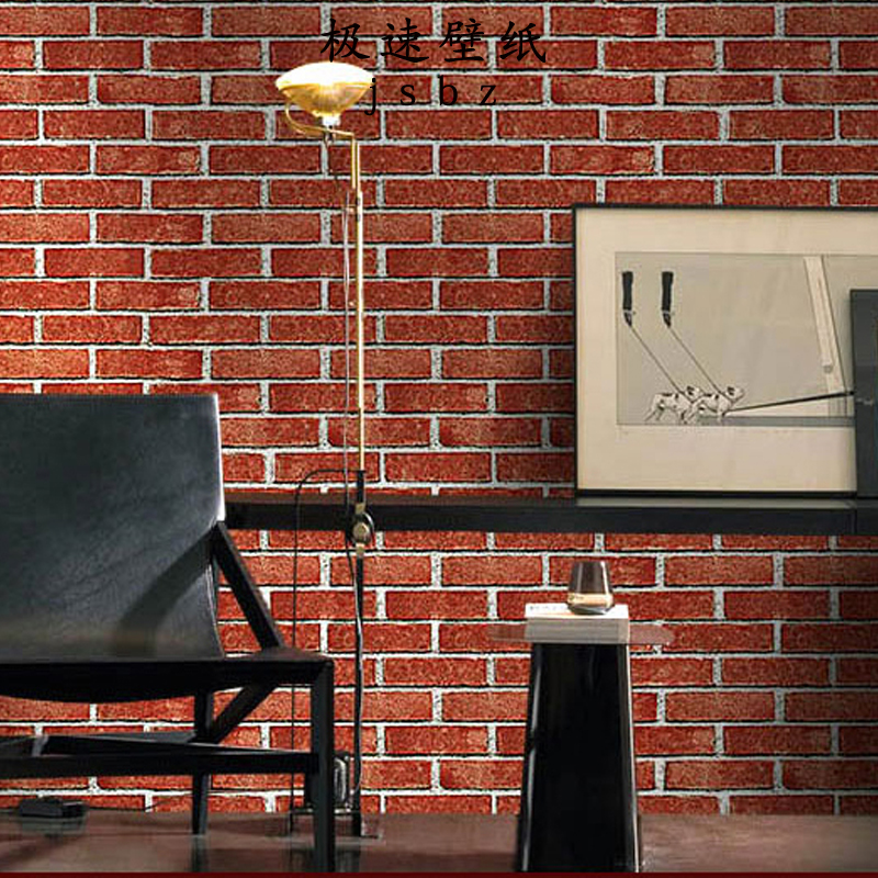 3d retro white brick gray red brick wall decor wallpaper. Black Bedroom Furniture Sets. Home Design Ideas