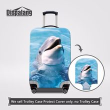 fdb2a7ba48 Dispalang Travel On Road Luggage Cover Anti-scrach Accessory Bag Dolphin  Print Trolley Case Cover
