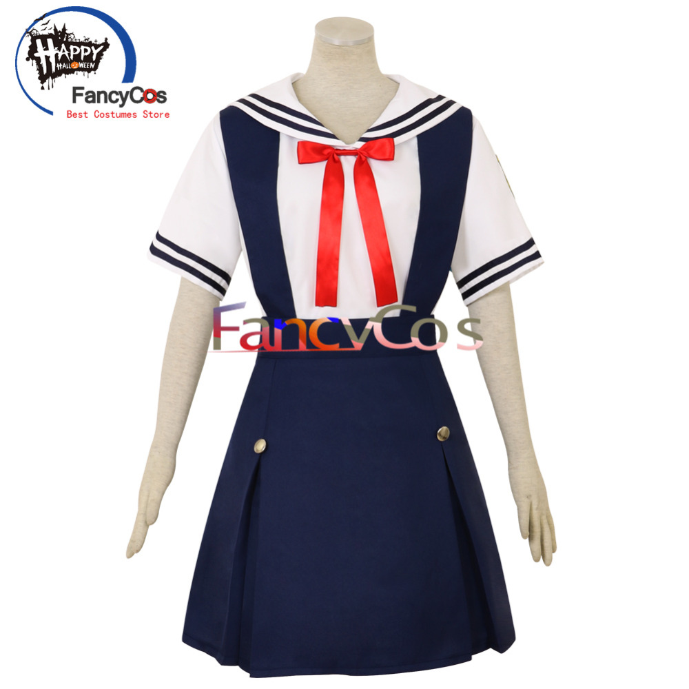 FancyCos Halloween CLANNAD Tomoyo Kotomi Fuko Nagisa Kyou Summer Uniform Cosplay Custom Made Anime Japanese