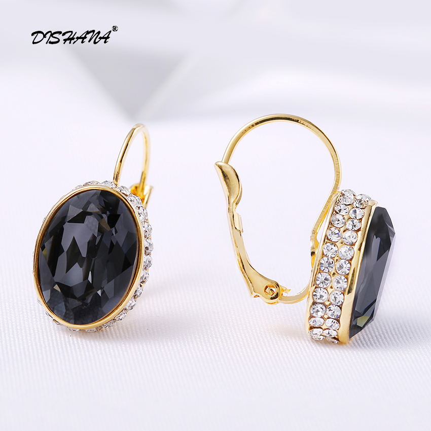 Kristal Drop Earrings untuk Wanita Pendientes Mujer Moda Emas-warna - Perhiasan fashion - Foto 6