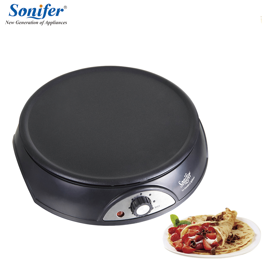 Electric Crepe Maker Pizza Pancake Machine Non-stick Griddle baking pan Cake machine kitchen cooking tools sonifer dsp electric pizza machine pancake machine baking pan cake machine crepe maker griddle kitchen cooking tool kc1069