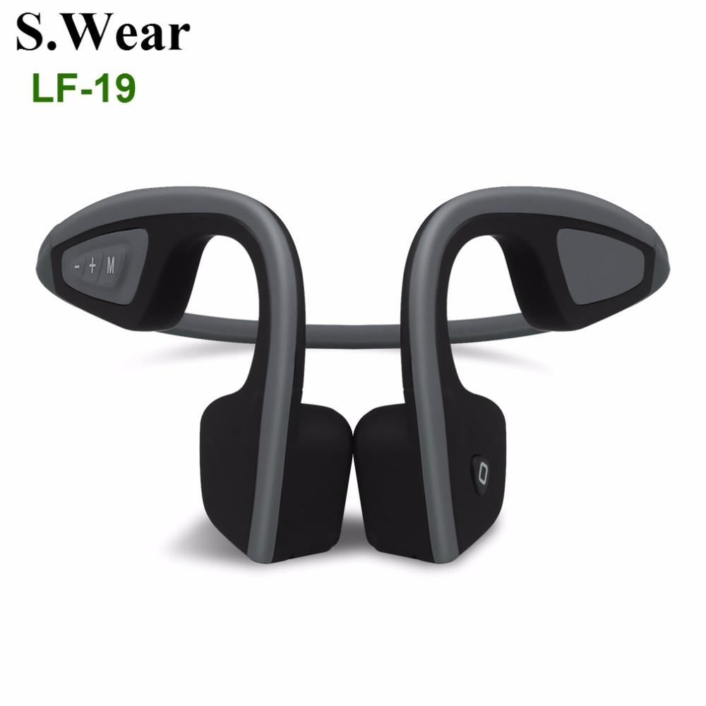 S.Wear LF-19 Bluetooth 4.1 Bone Conduction Headphones Wireless Stereo Sports Running Handfree Headset With Mic For Smart Phones