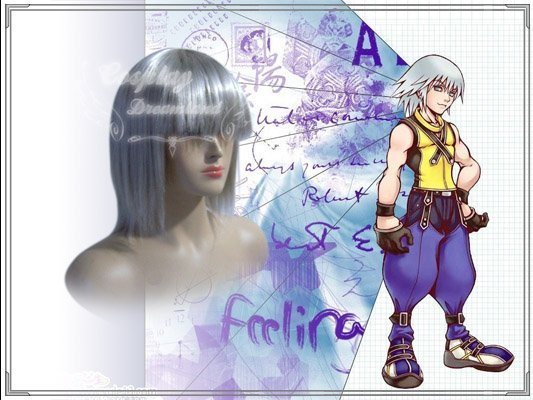 Wholesale Free Shipping Hot Selling Cheapest Halloween Kingdom Hearts Cosplay Wig Riku Wig without headband