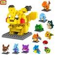 LOZ IR Modelo Brinquedos Figuras Pikachu Bulbasaur Charmander Squirtle Pokemon Mewtwo Snorlax Lapras Dragonite Caterpie Blocos de Construção