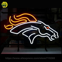NEON SIGN For DENVER BRONCOS CHICAGO CUBS CROWN ROYAL Smirnoff VANCOUVER CORONA PLANE Coors Light Dolphin