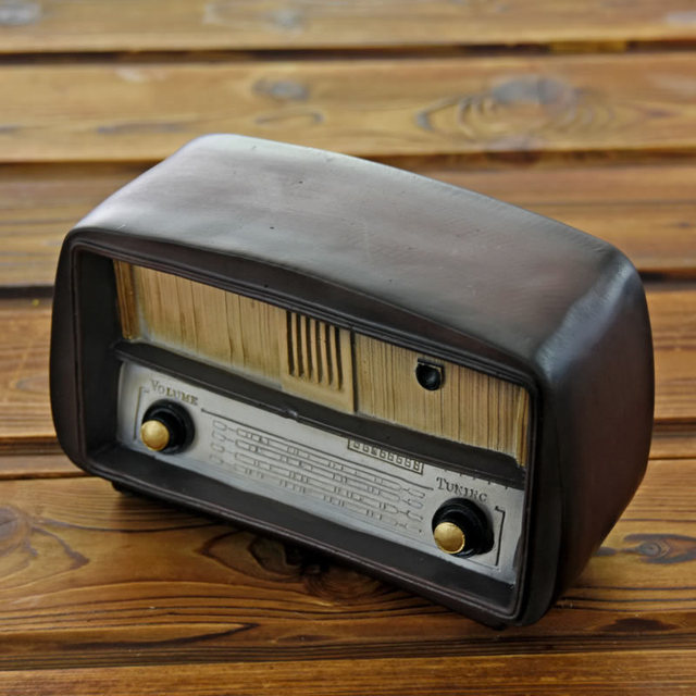 Retro Radio Vintage Home Decor Zakka Shabby Chic Home Decoration Accessories  Ancient Resin Crafts Home Ornaments