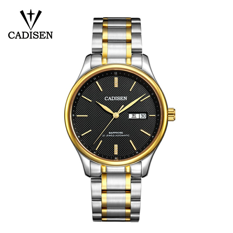 2018 CADISEN Mens Top Brand Luxury Watches Male Waterproof Wrist Watch Stainless Steel Automatic Mechanical Wristwatch wrist switzerland automatic mechanical men watch waterproof mens watches top brand luxury sapphire military reloj hombre b6036