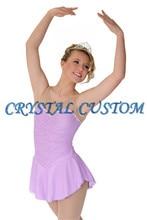 2016 Custom Ice Skating Dresses For Girls New Brand Vogue Figure Skating Competition Dress For Women DR3055