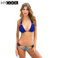 HYCOOL Brazilian Bikini Swimsuit For Women Halter Female Swimwear Sexy Bandage Biquini Strappy Sim Wear Swimming