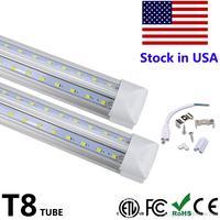 T8 Tube LED Bulb Lamp V Shape Integrate 4ft 5ft 6ft 8ft 2400MM LED Tube Fluorescent Light Double Side Power Cooler Door Lighting