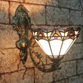 Модные Тиффани Средиземноморское зеркало с русалкой свет Мода деревенский настенный светильник постельные светильники