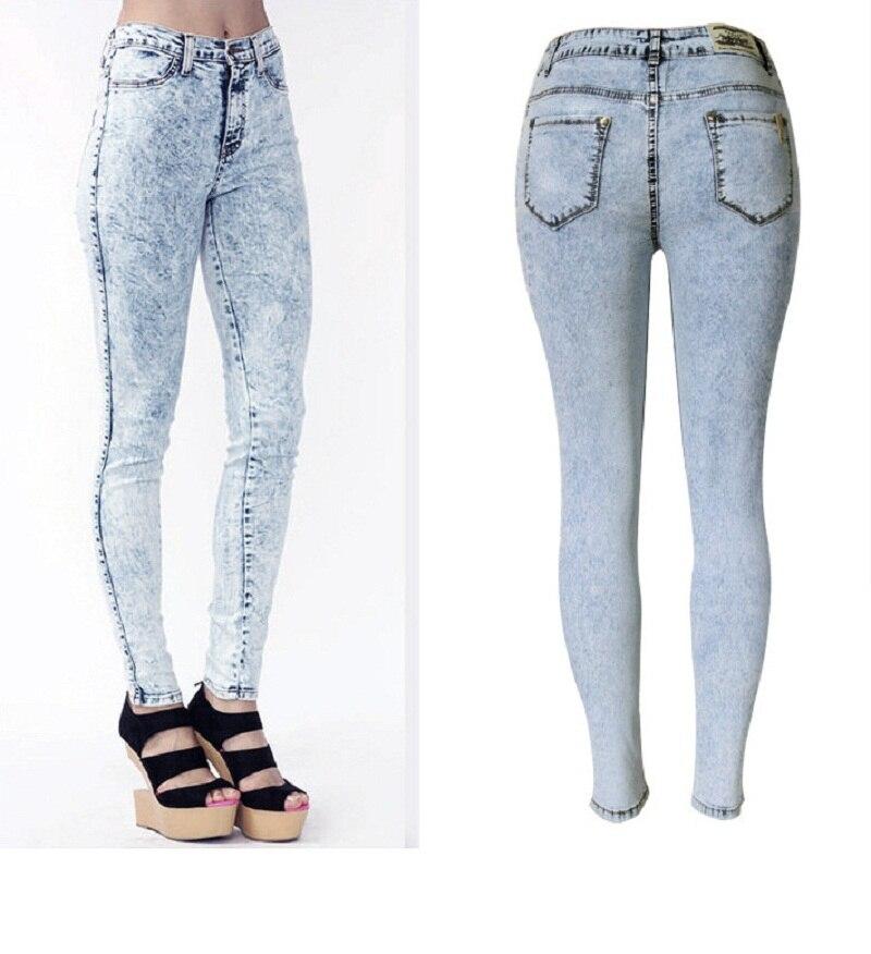 ФОТО 2016 Spring Summer Style Thin Celebrity Women High Stretch Skinny Jeans Woman PantalonesDenim High Waist Pants