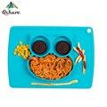 Qshare Baby Tischset Silikon Saug Platten für Kinder Kleinkinder Fütterung Lebensmittel Geschirr Fach Gerichte Leicht zu Reinigen Silikon Matte