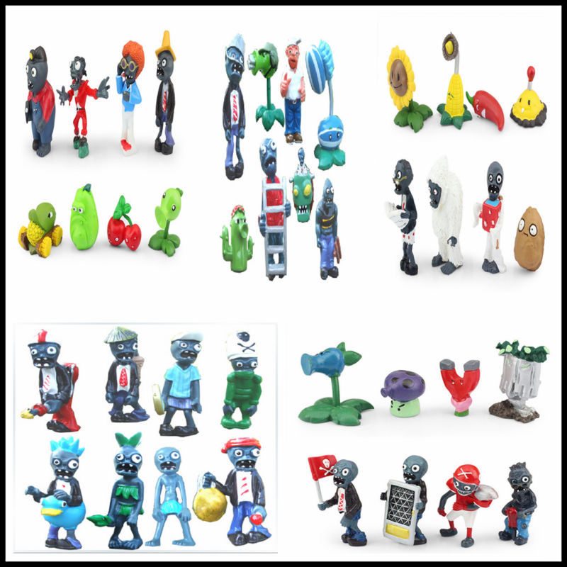 Free shipping Plants vs Zombies PVC Action Figures PVZ Plant + Zombies Collection Figures Toys Gifts 40pcs/set c s peirce the essential peirce – selected philosophical writings v 1
