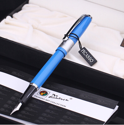 blue real Picasso 923 Fountain Pen business gift pen free shipping school and office Writing Supplies send teacher student real picasso 926 fountain pen business gift pens free shipping school and office writing supplies send teacher father friend 002