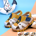 Summer children genuine leather shoes boys soft breathable sandals Beef tendon outsole anti-slip shoes fashion outdoor shoes