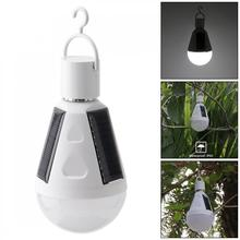 Portable 7W LED Waterproof Solar Light Emergency Lamp Bulb with Hang Hook for Outdoor / Garden Camping Hiking Fishing