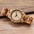 BOBO D21 UV Cópia Da Flor PÁSSARO De Madeira Relógios Das Mulheres Dos Homens Designer Marca Quartz Relógio de Pulso na Caixa de Presente reloj hombre de madera