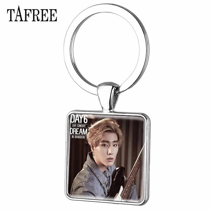 TAFREE Trendy Kpop Day6 Keychains Personalized Silver Color Key Chains Key Rings Car Key For Fans Keepsake Jewelry Day34