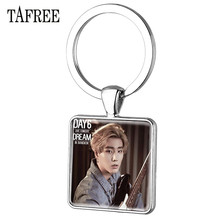 TAFREE Trendy Kpop Day6 Keychains Personalized Silver Color Key Chains Key Rings Car Key For Fans Keepsake Jewelry Day34 personalized custom unique car key chains lanyards key ring key finder feather keychains leather tassel