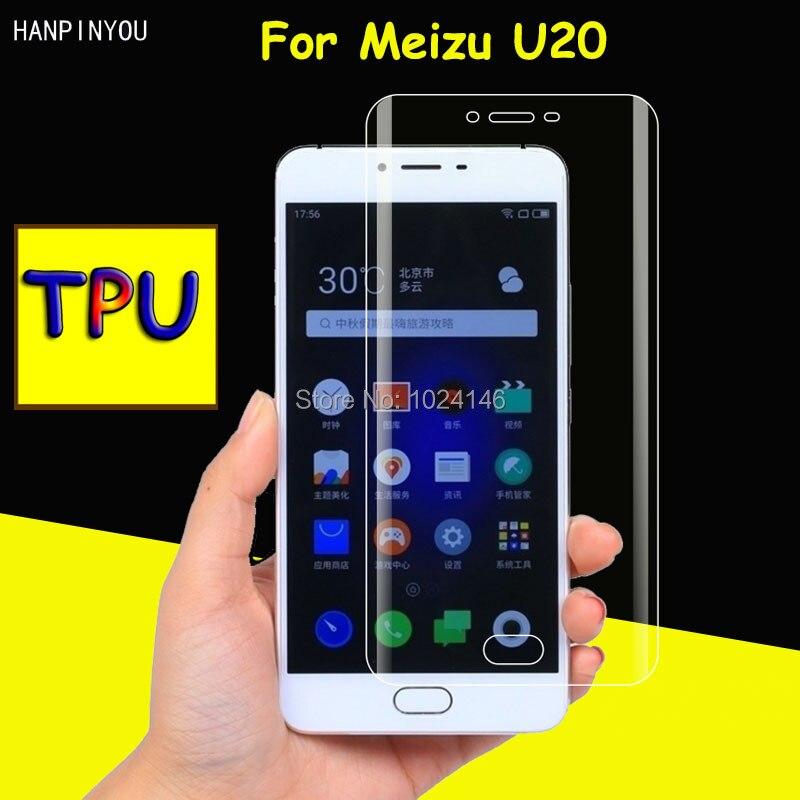 Full Coverage Clear Soft TPU Film Screen Protector For Meizu U20 U 20 5.5, Cover Curved Parts (Not Tempered Glass)