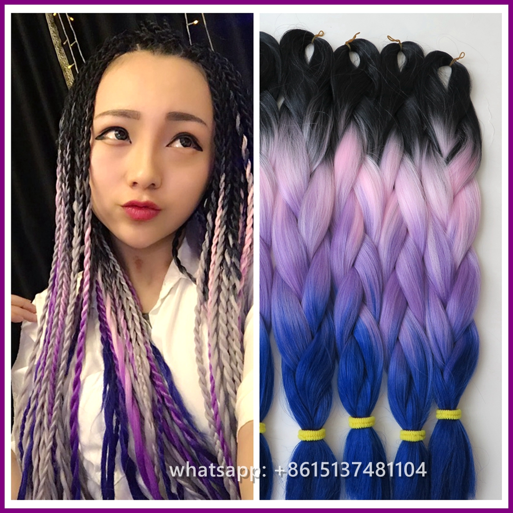 Very Beautiful 2pcs Lot Lavender Ombre Hair Extension