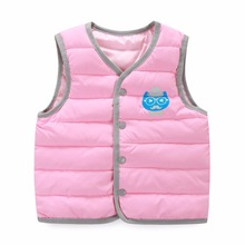 Children's Clothing Kids Waistcoat 2016 New cotton padded jacket vest warm autumn and winter Slim boy and girl children clothes