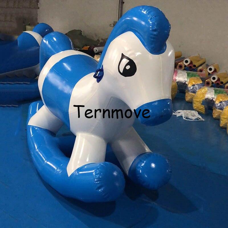 Aire de jeux intérieure gonflable saut cheval à bascule jeux de Sport cheval à bascule air scellé tour sur animal gonflable