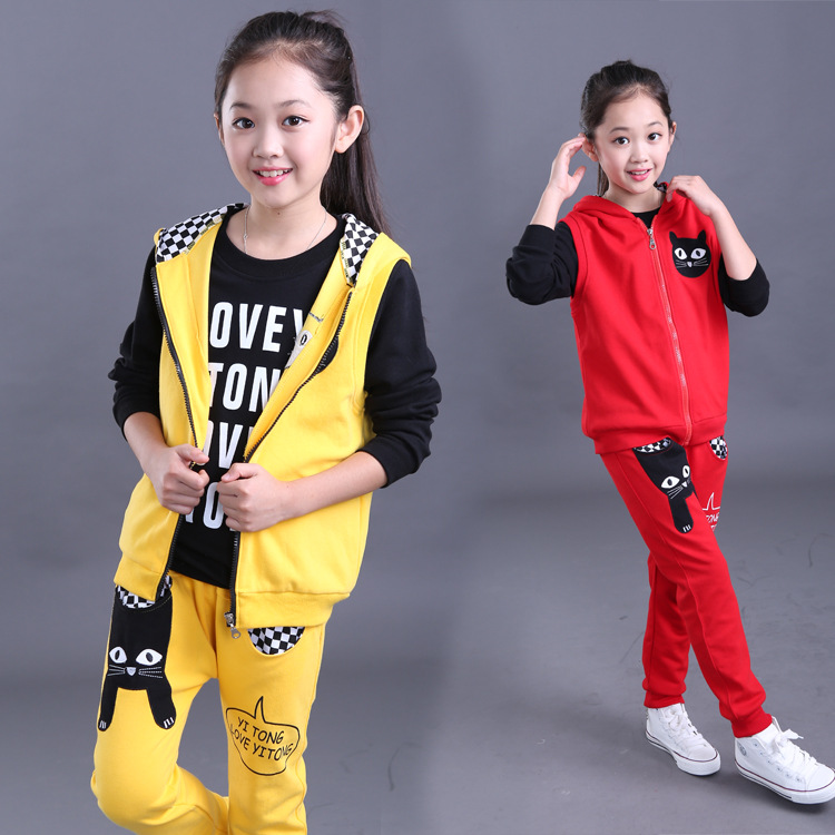 Clothing set Kids clothes sports suit for girls clothes Kids Children Set Children mickey Hooded Printed Sets Boys clothes set