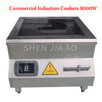 Commercial Induction Cookers 8000W High Power flat Induction Cooker Hotel Restaurant Canteen Electromagnetic Cooker 380V