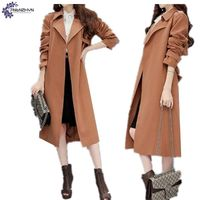 TNLNZHYN 2017 New Women Clothing Trench Coat Spring Fashion Leisure Long Sleeve Loose Big Yards Long