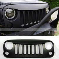 Free Shipping Angry Bird Style Front Grill Auto Replaceable Front Grille For Jeep Wrangler Black ABS