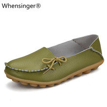 Soft Leisure Flats Women Genuine Leather Shoes Moccasins Mother Loafers Casual Female Driving Ballet Footwear