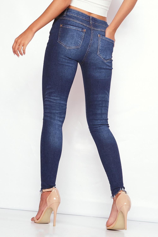 HTB1DFCDRVXXXXaAXVXXq6xXFXXXt - FREE SHIPPING 3 Colors Women Flower Embroidery Hole Jeans High Waist Pencil Pants Skinny Denim Trousers JKP295