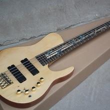 Заводская 5-Строка шеи-через корпус для электрической бас-гитары гитара с гриф из красного дерева, золото, метизы, предложение по индивидуальному заказу