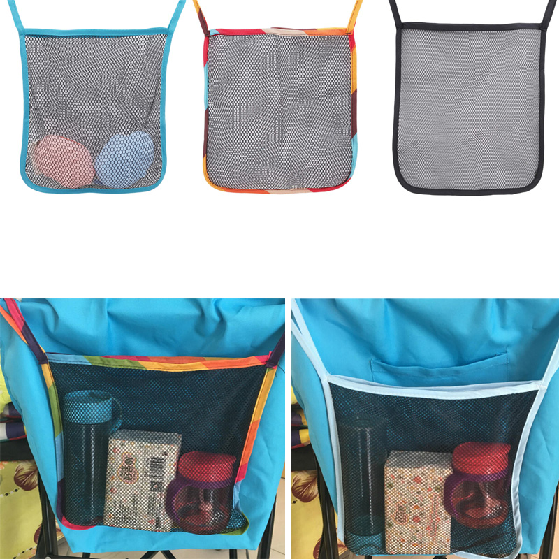 Practical Baby Trolley Net Pocket Infant Stroller Accessories Mesh Bottle Diaper Storage Hanging Pouch Organizer Bag Holder