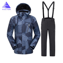 2019 Hot Brand Warm Winter Ski Suit Set Men Windproof Waterproof Skiing Snowboarding Suits Set Male Outdoor Ski jacket + Pants 2018 new lover men and women windproof waterproof thermal male snow pants sets skiing and snowboarding ski suit men jackets