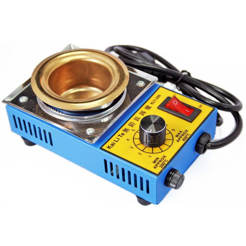 Lead Free mini Solder Pot Titanium Alloy Soldering Melting Tin Boiler 150W 220V ms 80 lead free digital soldering pot environment friendly solder pot