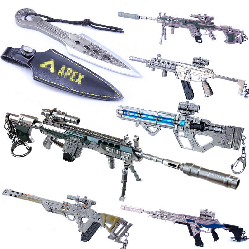 Metal Key Chain Battle Royale APEX Legends Keychain Gun Model Keyring Metal Key Ring