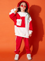New street dance suit female hip hop sweater winter hiphop girl street dance clothes children jazz dance costumes