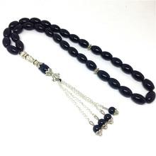 Natural 33beads  Matte Black Onyx Beads Stone Round Shape  Prayer beads Islamic Muslim Tasbih Allah  free shipping