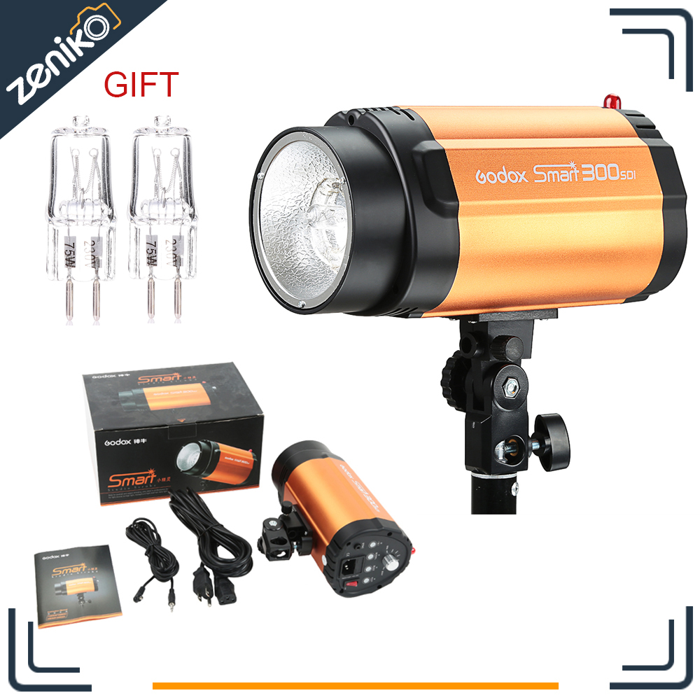 Free Shipping New Version Godox Smart 300SDI 300WS Photo Mini Studio Strobe Flash Speedlite Lamp Head 220V 110V godox smart 300sdi 300ws flash studio photography light orange ac 220v 3 flat pin plug
