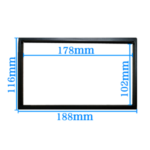 Image 2 - car frame for Universal 2 Din auto radio / android player Frame Retrofitting decorative framework 178 x 102mm panel No gap