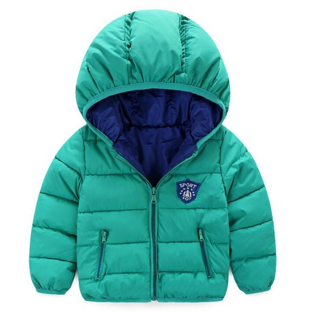 New Baby Boy Coat Children Outerwear Coat Fashion Boy Jacket Baby Girls Coat Warm Hooded Children Clothing Kids clothes 7-24M